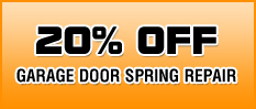 20% off garage door spring repair